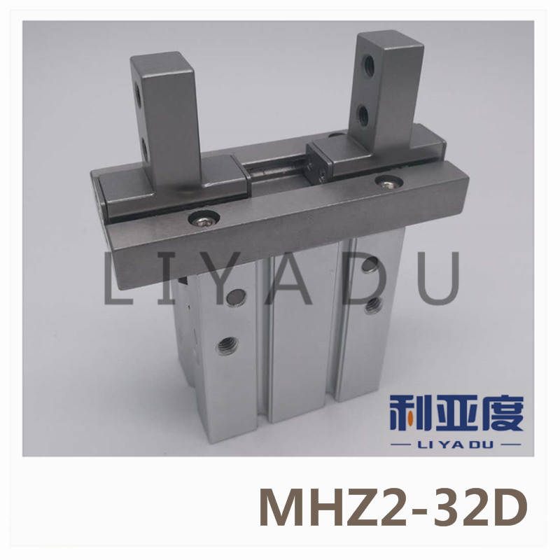 SMC standard type MHZ2-32D pneumatic finger cylinder parallel open air claw mhz2 6s mhz2 6s1 mhz2 6s2 high quality pneumatic finger cylinder parallel open single action open air claw