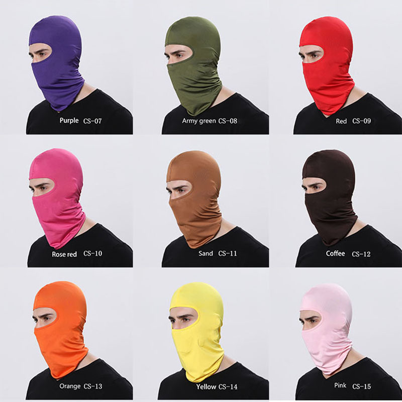 Full Face Mask Men Women Outdoor Motorcycle Cycling Sunscreen Soft Lycra Head Cover Safety Mask Anti-dust Protection multi color summer dust proof sunscreen neck mask female outdoor riding mask