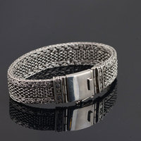 925 Silver Statement Bracelet 20cm 21cm 22cm Cable Wire Chain 100 Original S925 Thai Silver Big