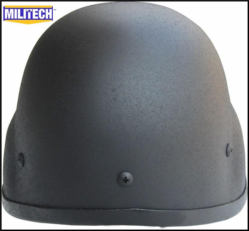 MILITECH NIJ IIIA 3A Black M88 Steel Bullet Prova, Helmeta Steel - Siguria dhe mbrojtja - Foto 4