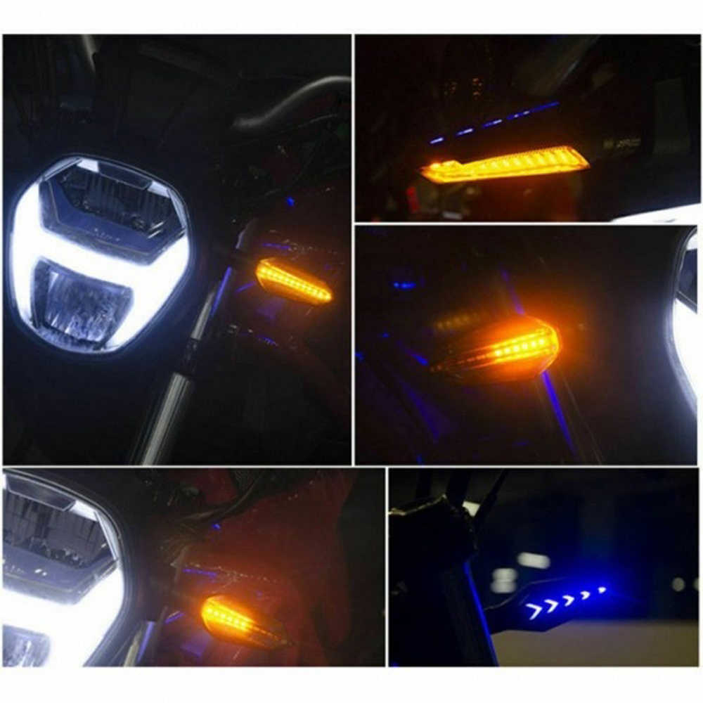2pcs LED Bike Motorbike Direction Lights Flowing Motorcycle Turn Signal Light Motor Bike Bicycle Indicator Lamps Flashing Lights