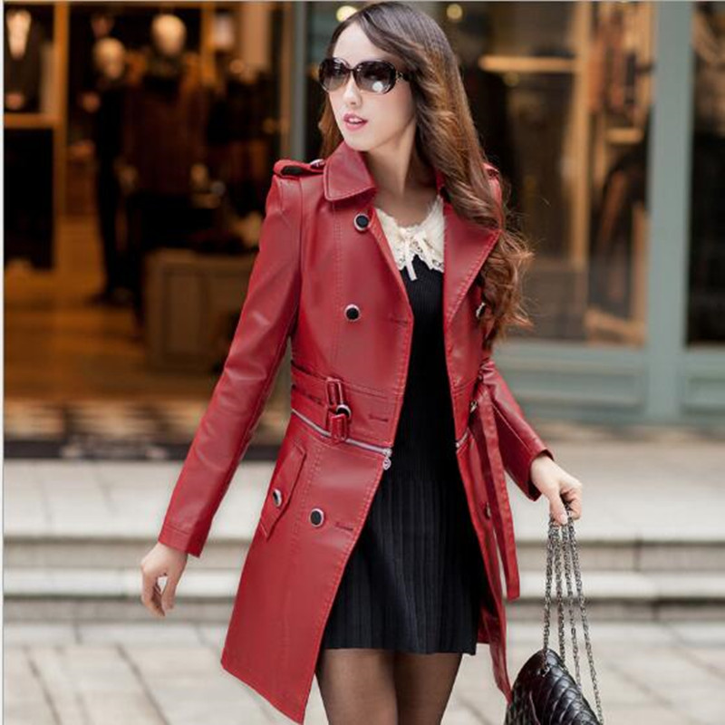 Pu Moda Vento Street Grandi Dimensioni Cuoio Di photo Black Giacca Autunno Blower Jacketg631 Color red Delle Boutique A Cappotto Donne Primavera 15Fx85nf4