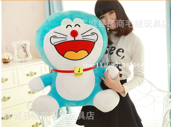 stuffed toy laughing design Doraemon large 60cm plush toy soft throw pillow,birthday gift h464 lovely giant panda about 70cm plush toy t shirt dress panda doll soft throw pillow christmas birthday gift x023