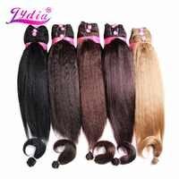 Lydia Für Frauen Verworrene Gerade 5 teile/paket Synthetische Haar Verlängerung 14 16 18 Haar Weben Kanekalon Reine farbe Haar Bundles