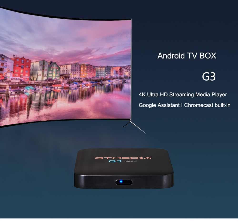 GTMEDIA G3 +3M IPTV FREE Alpha 2+16G Android 7 1 Smart TV Box Amlogic S905X  Quad Core 2 4GHz WiFi Bluetooth 4 0 STB Media Player