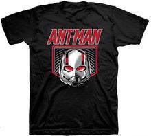 Marvel Comics Ant-Man Logo Mens Black T-Shirt Superhero Antman Print T Shirt Men Summer Style Fashion top tee