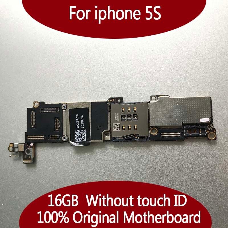 100% débloqué Original pour iphone 5S Carte Mère sans Tactile ID, 16 gb pour iphone 5S Carte Mère avec Plein Puces, Bon Travail