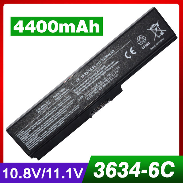 4400mAh laptop battery for Toshiba Satellite L700 L755 L770 M300 M500 M505 M505D M600 M640 M645 P740 P745 P750 P755 P770 P770D