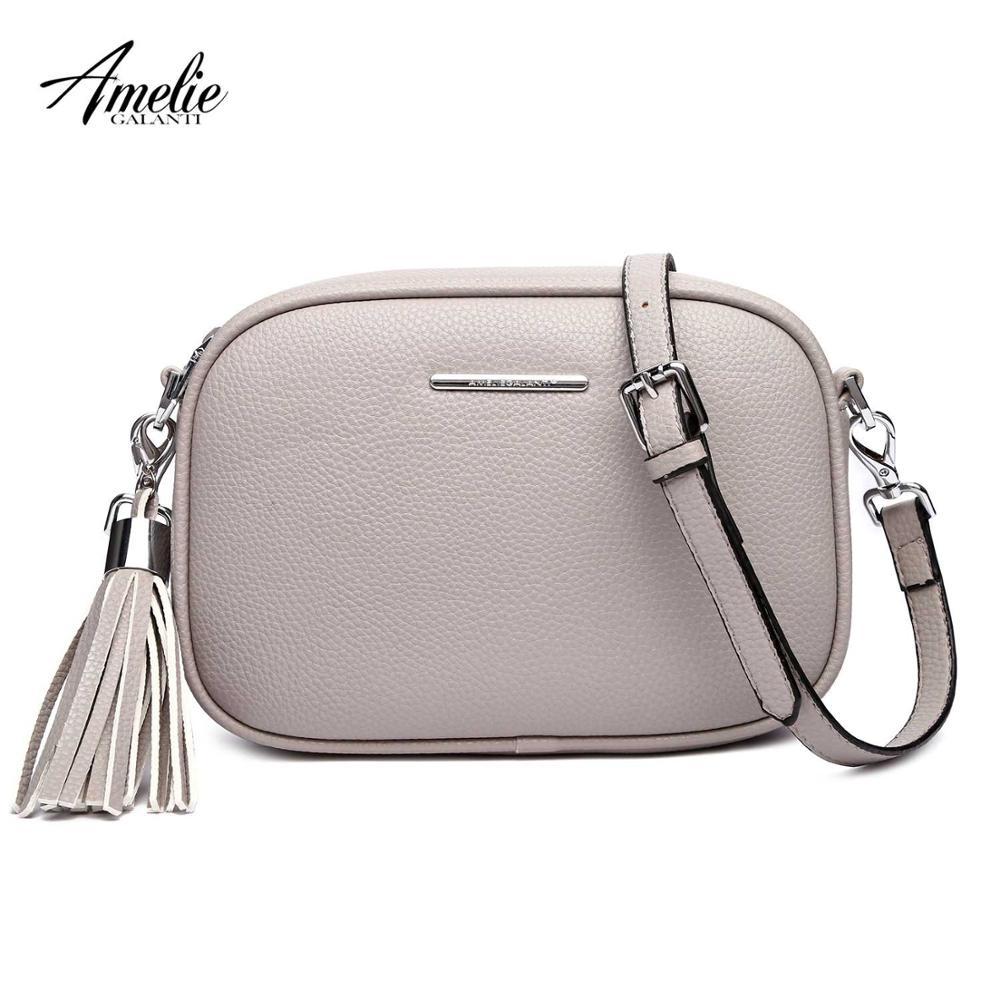 1aaba359a9e AMELIE GALANTI luxury handbags women bags designer Handmade Messenger  Crossbody Bags PU Leather 2019 bags for