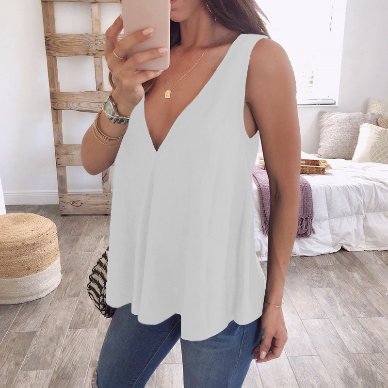 Tank Tops woman Summer 2018 V neck femme casual streetwear tee shirts mujuer top clothing WS8508k