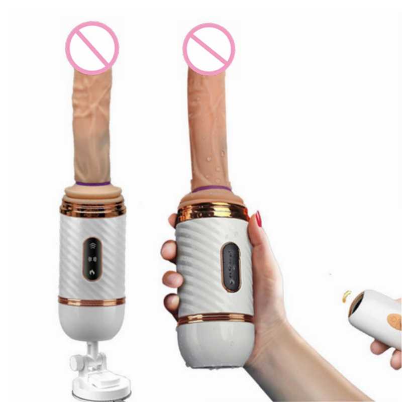 Wireless Remote Heating Telescopic Dildo Vibrators Adult Sex Products Automatic Sex Machine Realistic Penis Vibrator For Woman in Dildos from Beauty Health