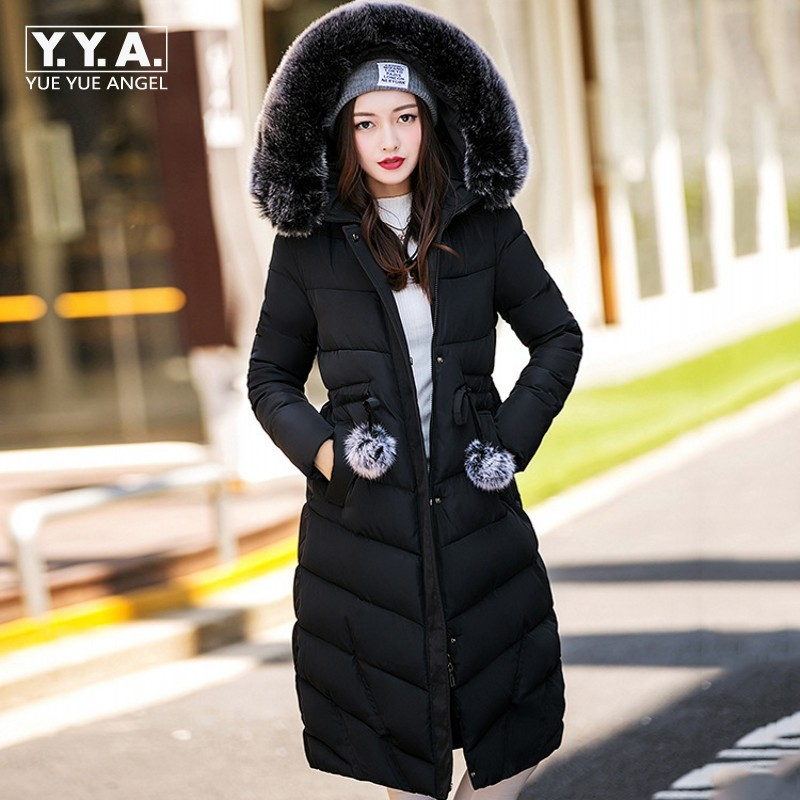 2017 New Women Winter Coat Jacket Warm Woman Parkas Female Overcoat High Quality Casual Faux Fur Hooded Long Jacket Cotton Coat jolintsai winter coat jacket women warm fur hooded woman parkas winter overcoat casual long cotton wadded lady coats