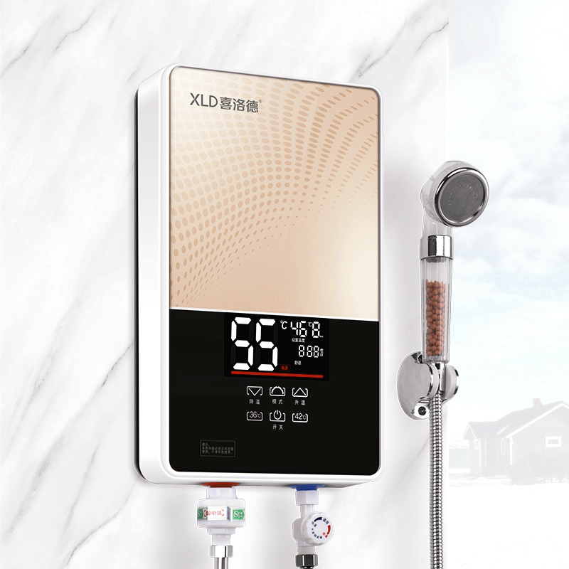 7000w Instant Tankless Electric Water Heater For Home Kitchen Bathroom Remote Fast Heating Machine Frequency Conversion Shower