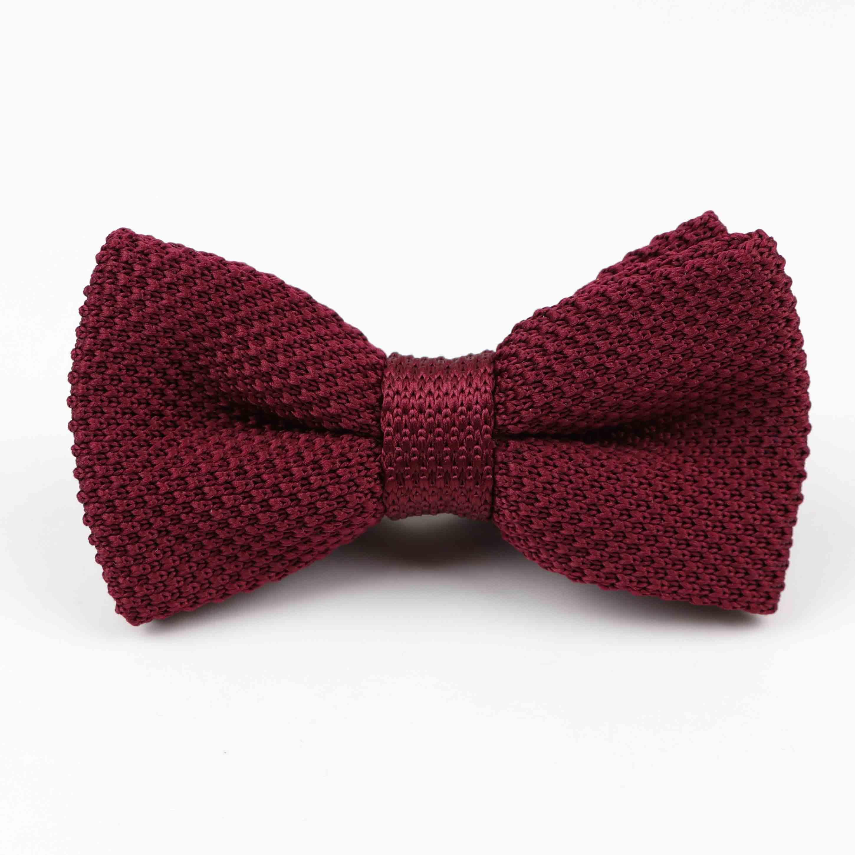 Мужские галстуки для шеи, смокинг, вязаная бабочка, Одноцветный галстук-бабочка, толстый двухслойный предварительно завязанный Регулируемый вязаный Повседневный галстук - Цвет: 46
