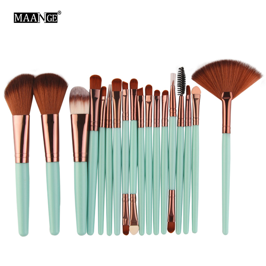 18Pcs/lot Brand Brushes Makeup Brush Set maquiagem Cosmetics Power Foundation Blush Eye Shadow Blending Fan Make Up Kits Beauty 2