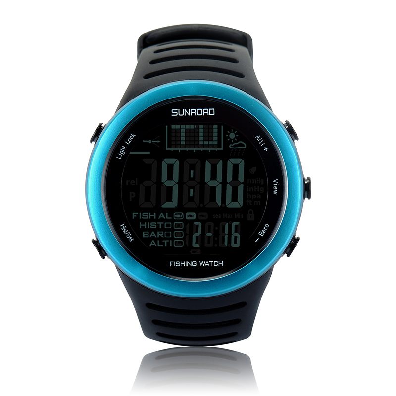 SUNROAD FR720 Men Digital Watch Outdoor  Sports Fishing Altimeter Barometer Thermometer Altitude Climbing Hiking Hour Watch multifunctional handheld workstations altitude table compass altitude meter barometer outdoor altimeter fishing barometer