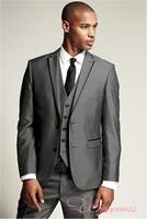 Custom Made Groom Tuxedo Groomsmen Notch Lapel Wedding/Dinner/Evening Suits Best Man Bridegroom (Jacket+Pants+Tie+Vest) B144