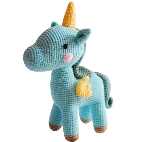 foto croche trico brinquedo bonito pequeno unicornio