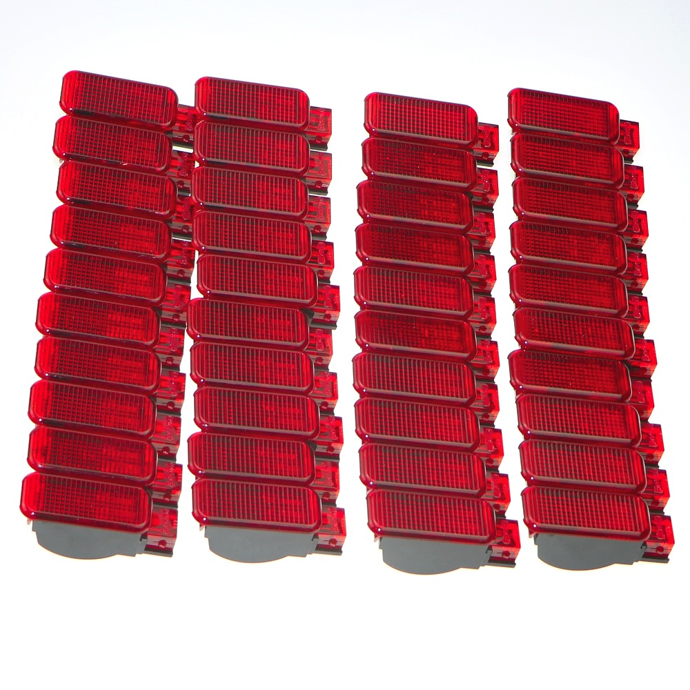 40Pcs Car Door Panel Interior Red Warning Light For A7 A8 Q3 Q5 TT A3 S3 A6 S6 A4 S4 RS3 RS4 RS7 8KD 947 411 8KD947411