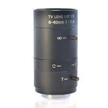 6-60 мм 1/3 «Промышленная камера ручной Ирис зум-фокус Объектив CS крепление cctv объектив для камеры видеонаблюдения или Микроскопа Камеры