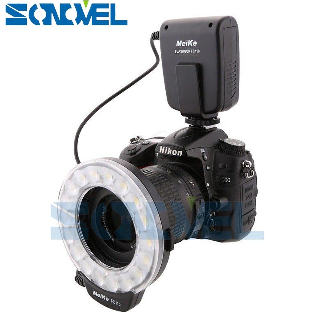 Meike FC-110 FC110 LED Flash D'anneau Macro Lumière pour Nikon D500 D5 D7500 D3400 D3300 D810 D800 D750 D7200 D5600 D5500 D5300 D5200