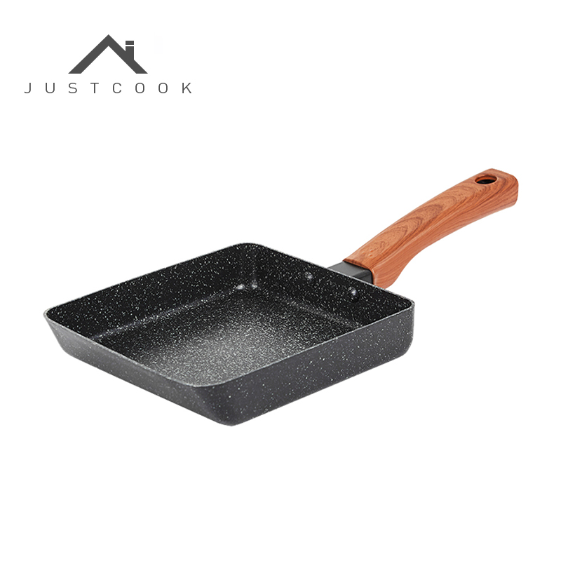 Justcook Tamagoyaki Egg Frying Pan Omelette Pancake Japanese Style Non-stick Kitchen General Use For Gas And Induction Cooker