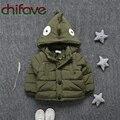Chifave 2016 Nuevo Personaje Dinosaurio Parka Invierno Unisex Niños de Down Escudo Único Breasted Gruesa Bebé Caliente Niños Niñas Prendas de Abrigo