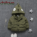 chifave 2016 New Character Dinosaur Parka Winter Unisex Kids Down Coat Single Breasted Thick Warm Baby Boys Girls Outerwear Coat
