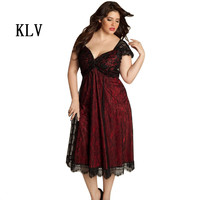 Plus Size Women Dress Sleeveless Lace Long Party Prom Gown Formal Dress Dress Women Vestidos Mujer