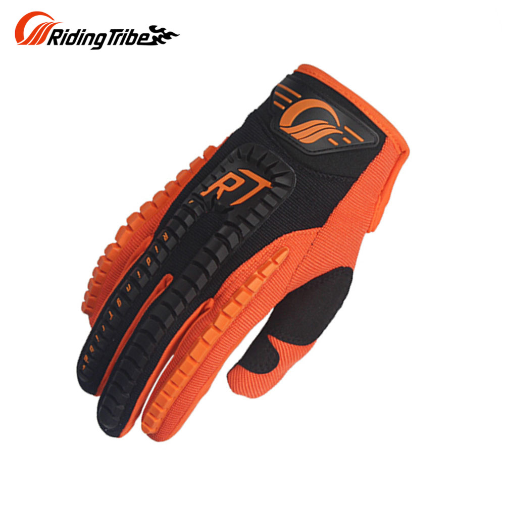 Motorcycle gloves discount - Riding Tribe Screen Touch Full Finger Knight Riding Motorbike Motorcycle Gloves Summer Breathable Motocroos Racing Gloves