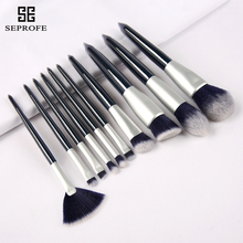 SEPROFE 10pcs Makeup Brushes high quality wooden handle makeup brush set eye shadow cosmetics kits private logo