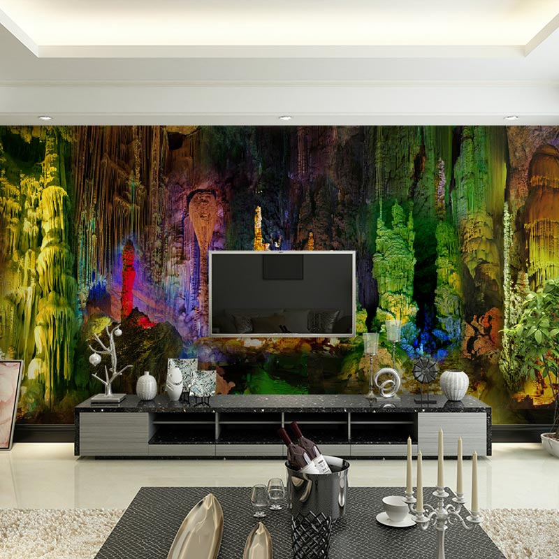 Home Bar Decor Wall Murals Living Room Bedroom Papers Dreamy Lights Photo Wallpaper Self Adhesive Vinyl Silk In Wallpapers From