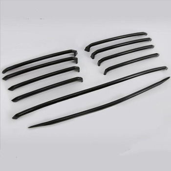 For Mazda ATENZA 2017 10PCS ABS Chrome Carbon Fiber Car Front Air Grille Decoration Sequins Cover Trim Car Styling Accessories