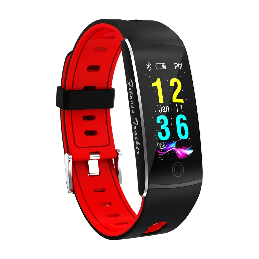 GIAUSA F10 Fitness Tracker Color Screen IP67 Waterproof Smart Bracelet Heart Rate Smart band Remote Control Sport Band in Smart Wristbands from Consumer Electronics