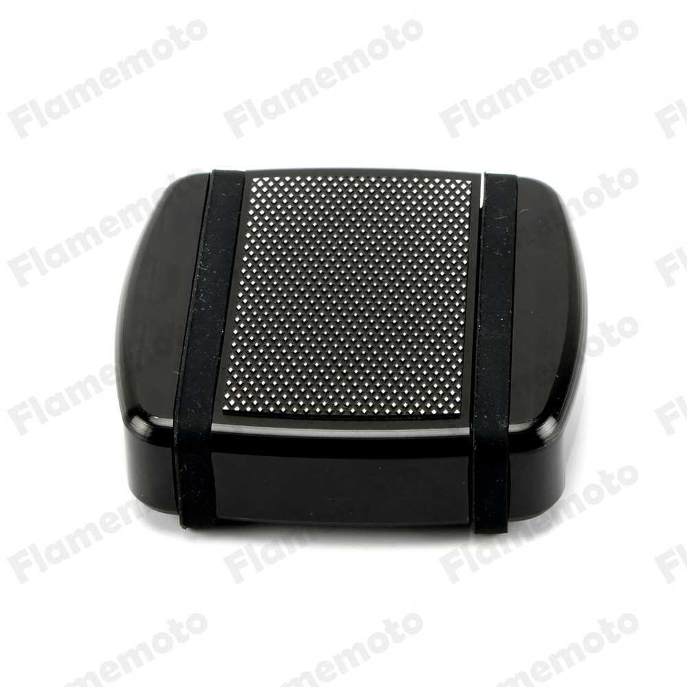 Motorcycle Parts Brake Pedal Pad Covers CNC Diamond Black Small Footrests Brake Foot Pegs For Harley Dyna Softail