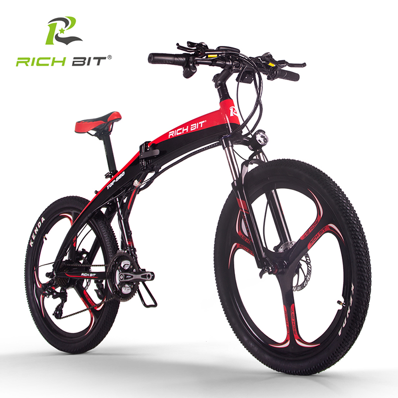 RichBit New RT-880 36V*250W Folding ebike Mountain Electric Bike Hybrid Electric Bicycle Frame Inside Li-on 9.6Ah Battery ebike richbit road