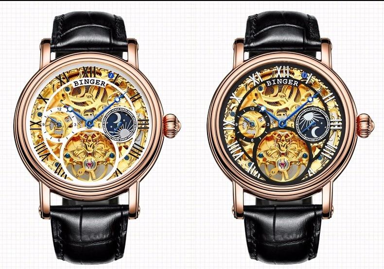 0759a984200 Projeto de Esqueleto de luxo Fase Da Lua Relógios Relogio masculino ...