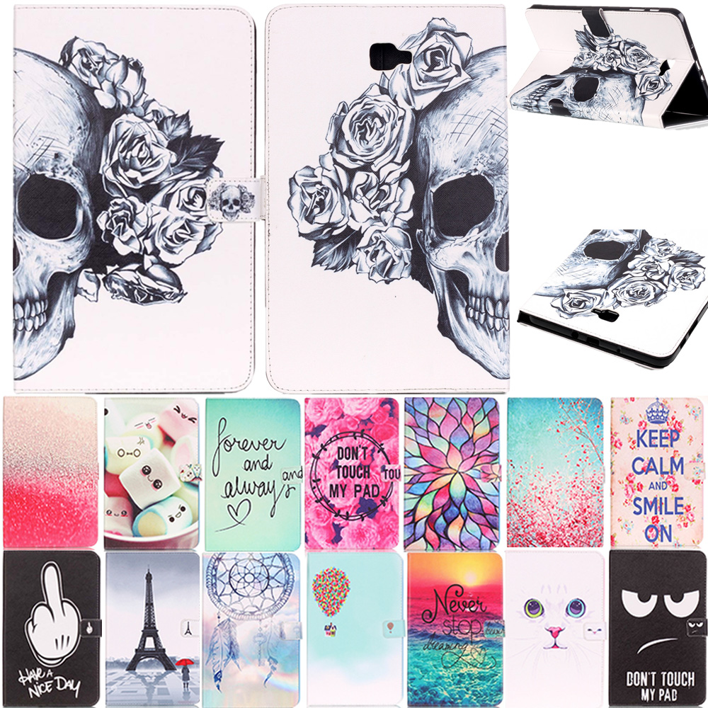 Case For Samsung Galaxy Tab A 10.1 2016 T585 T580 SM-T580 T580N Ultra Slim Magnetic Leather Smart Stand Case Cover For T580 fashion painted flip pu leather for samsung galaxy tab a 10 1 sm t580 t585 t580n 10 1 inch tablet smart case cover pen film