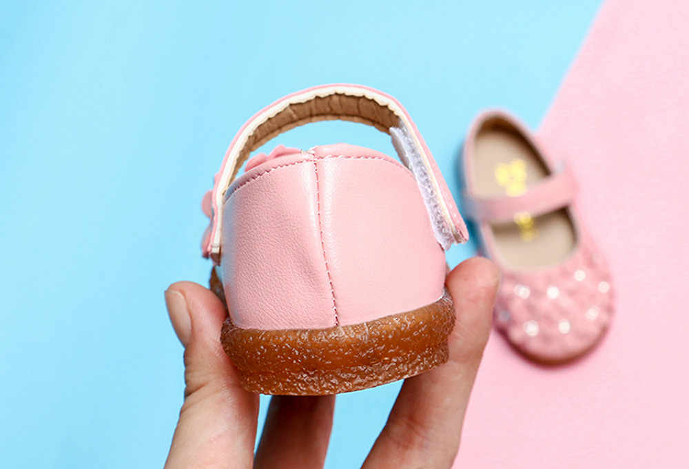 ילד נעלי ילדי בנות אופנה מזדמן שטוח נעלי ילדים יפה וו & לולאת נעלי פרח עור רך אחת סניקרס