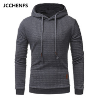 JCCHENFS 2018 Hot Men S Hoodies Sweatshirts Fashion Rhombic Plaid Pattern Solid Color Hooded Jacket Casual