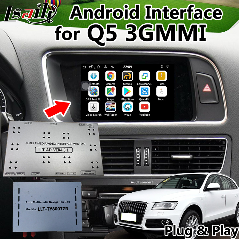 US $369 0 18% OFF|Android 6 0 GPS Navigation Video Interface for AUDI Q5 3G  MMI with Mirrorlink , WIFI , Online Map , Live Navigationa etc -in Vehicle