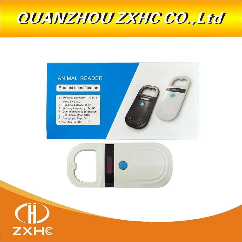 Animal de poche lecteur de cartes RFID 134.2 Khz pet puce scanner d'identification tube en verre étiquette lecture FDX-B & EMID Pour chiens ou chats