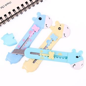 1 шт. милый канцелярский нож в форме жирафа резак для бумаги режущий нож для бритвы офисные канцелярские принадлежности Escolar школьные принад...