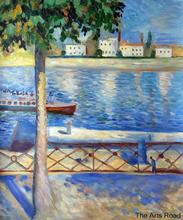 Home Decor Paintings The Seine at Saint-Cloud, 1890 by Edvard Munch Wall Painting Landscape Art Oil on Canvas