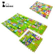 6pcs/set Kids Toys Carpet Puzzle Mats 60*60*2cm Rug Puzzle Baby Play Mats EVA Mat Children Foam Carpet Developing Rug Goma Eva