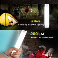 Magnet 4 Levels Dimmable Brightness Mini USB LED Camping Lights Portable Rechargeable Fishing Lamp