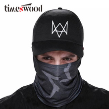 цена на 2 Pieces/set Watch Dogs Aiden Pearce Face MASK Cap Cotton Hat Set Costume Cosplay Mask Hat Mens 6 Panel Tactique Baseball Caps