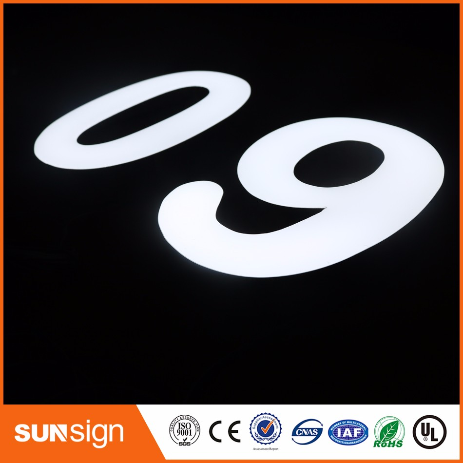 3d Led Channel Letter Stainless Steel Side Acrylic Front Lit Led Channel Letter