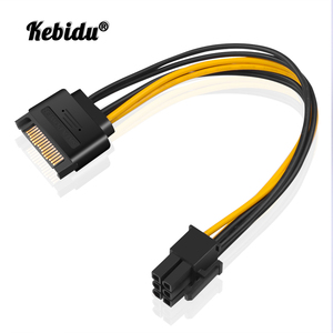 kebidu New SATA Power to 6Pin Power Cable Adapter Connector 6P PCI-E PCI Express Adapter Graphics Video Card Converter Cable