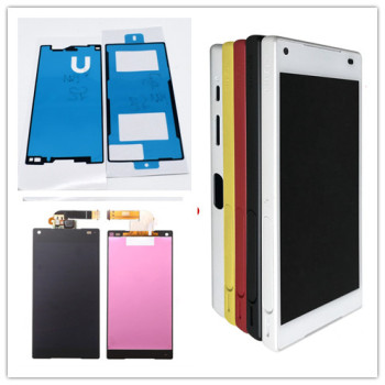 black/white For Sony Xperia Z5 Compact mini E5803 E5823 LCD Display Touch Screen Digitizer Assembly Repair Parts jieyer 4 6 display for sony z3 compact mini d5803 d5833 lcd display touch screen digitizer assembly replacement part